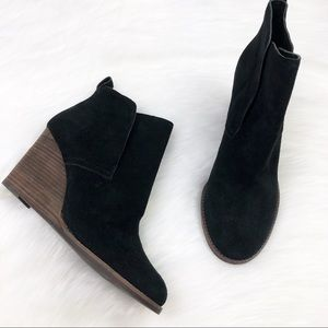 New Lucky Brand Black Wedges Booties